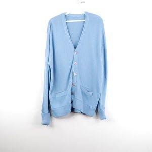 80s Streetwear Long Sleeve Knit Cardigan Sweater